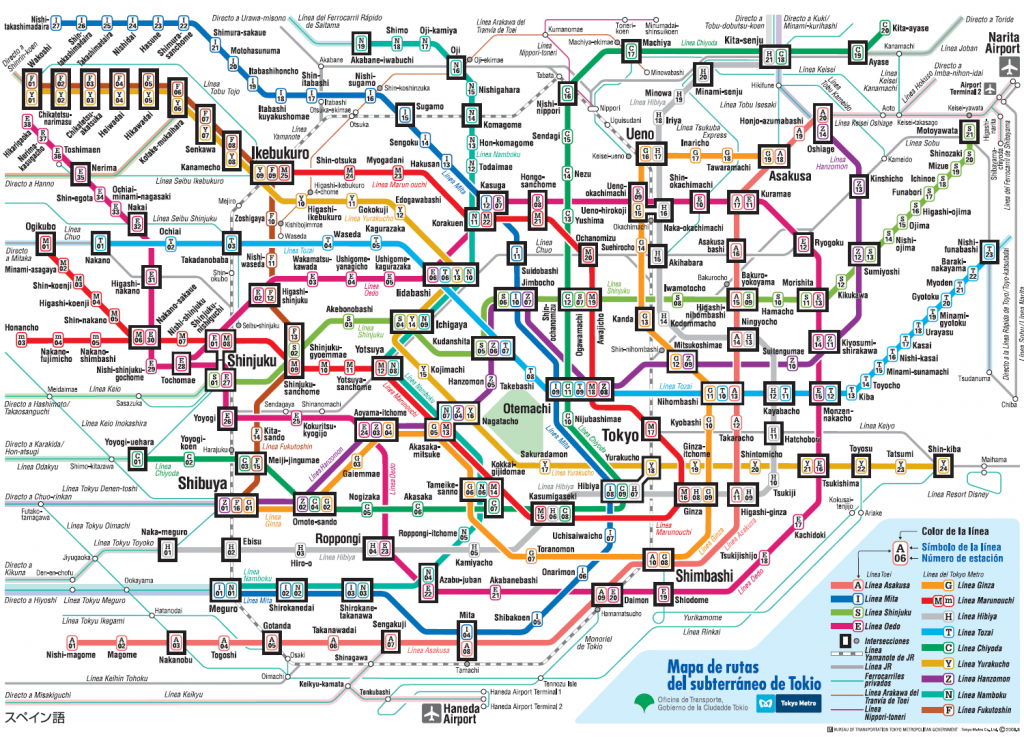 Alternative transport schema of Tokyo