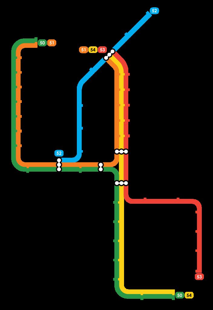 Amsterdam Metro map