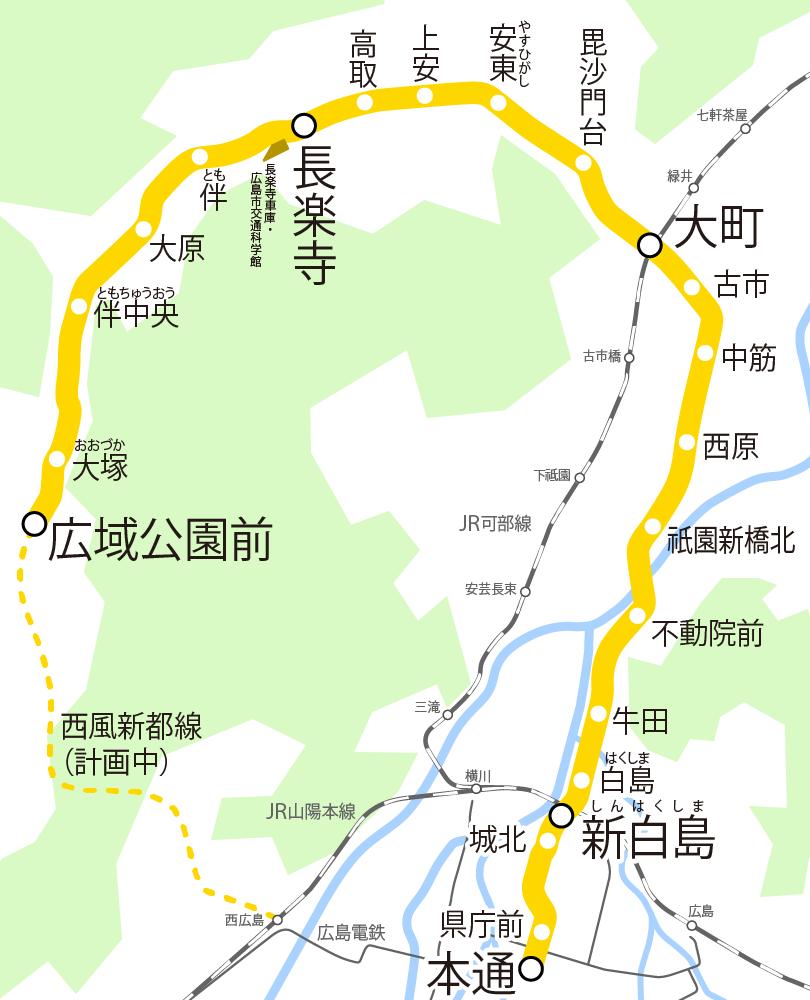 Astram Line map