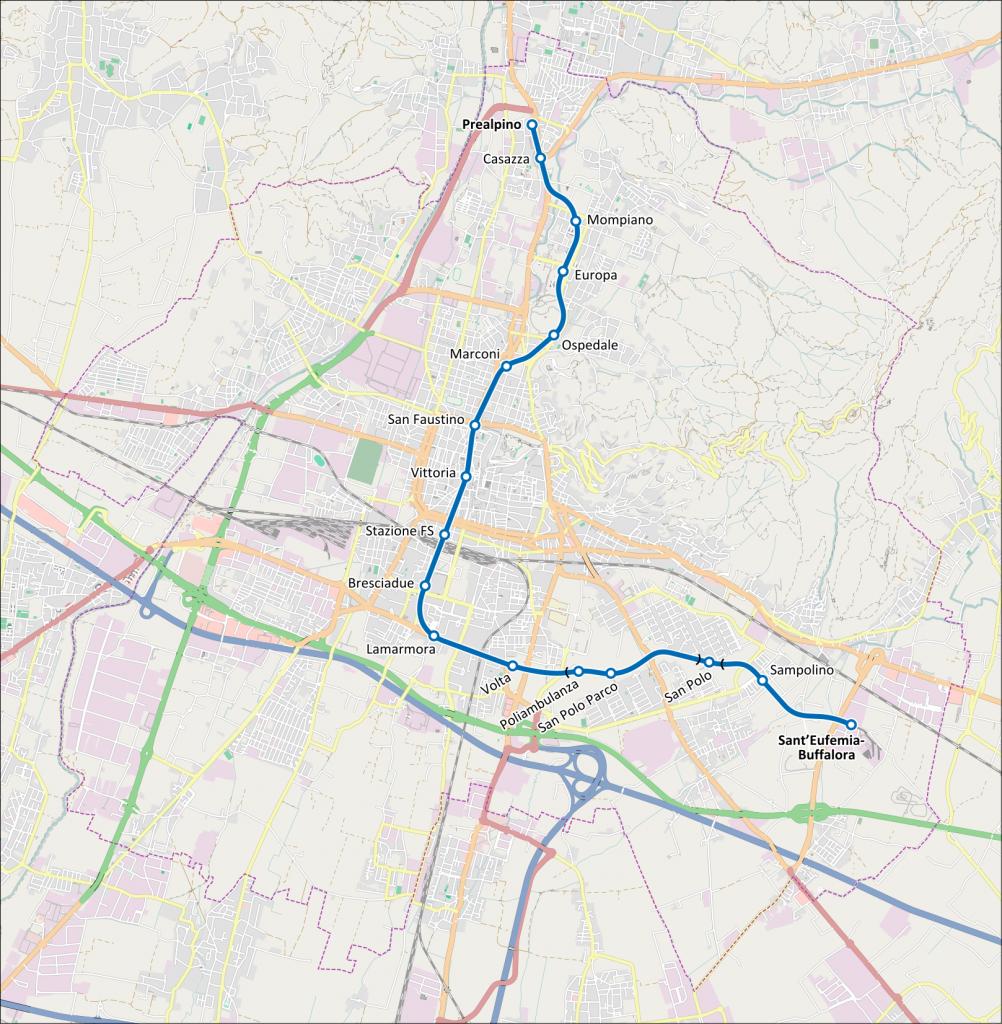 Brescia Metro map