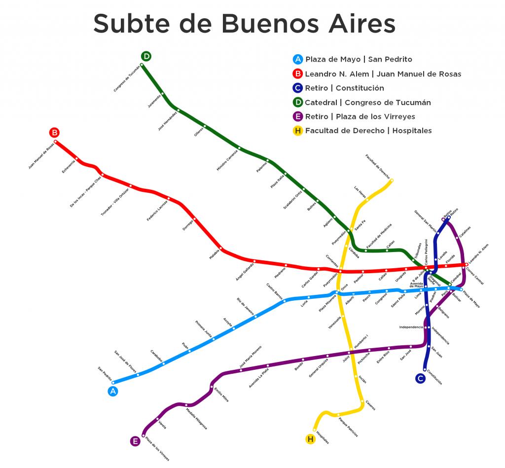 Buenos Aires Underground map