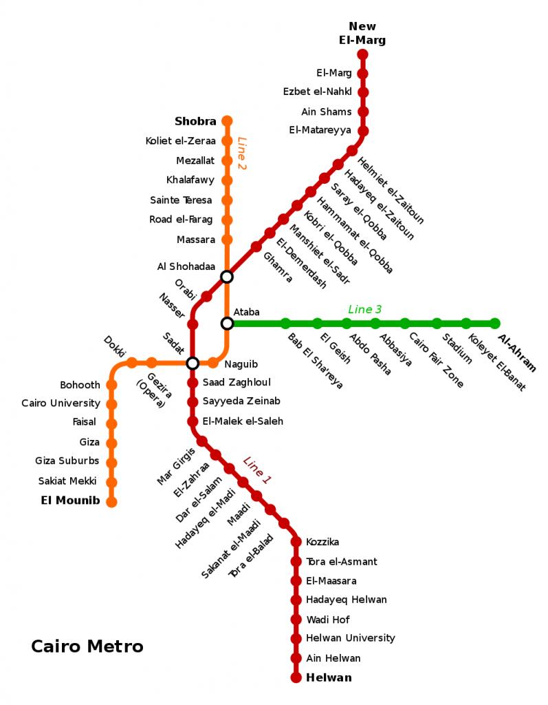 Cairo Metro map