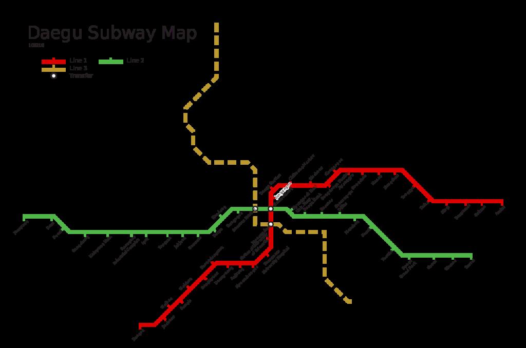 Daegu Metro map