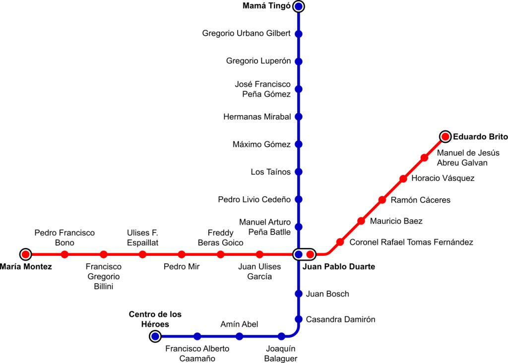 Santo Domingo Metro map