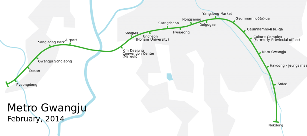 Gwangju Metro map