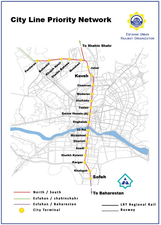 Isfahan Metro map