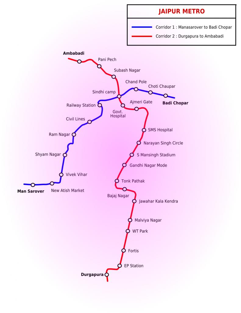 Jaipur Metro map