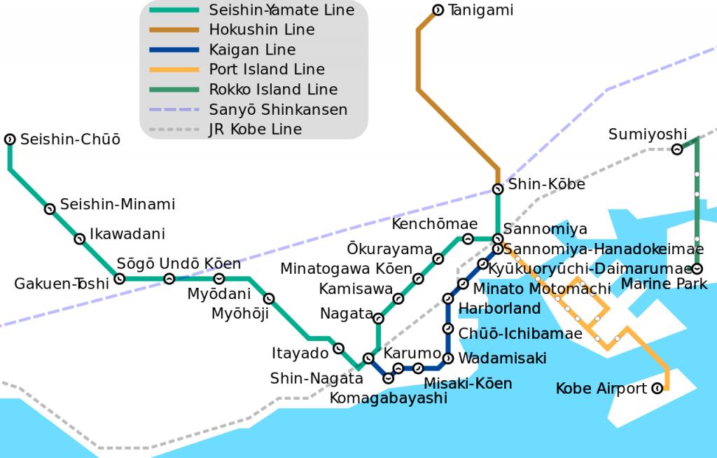 Kobe Municipal Subway map