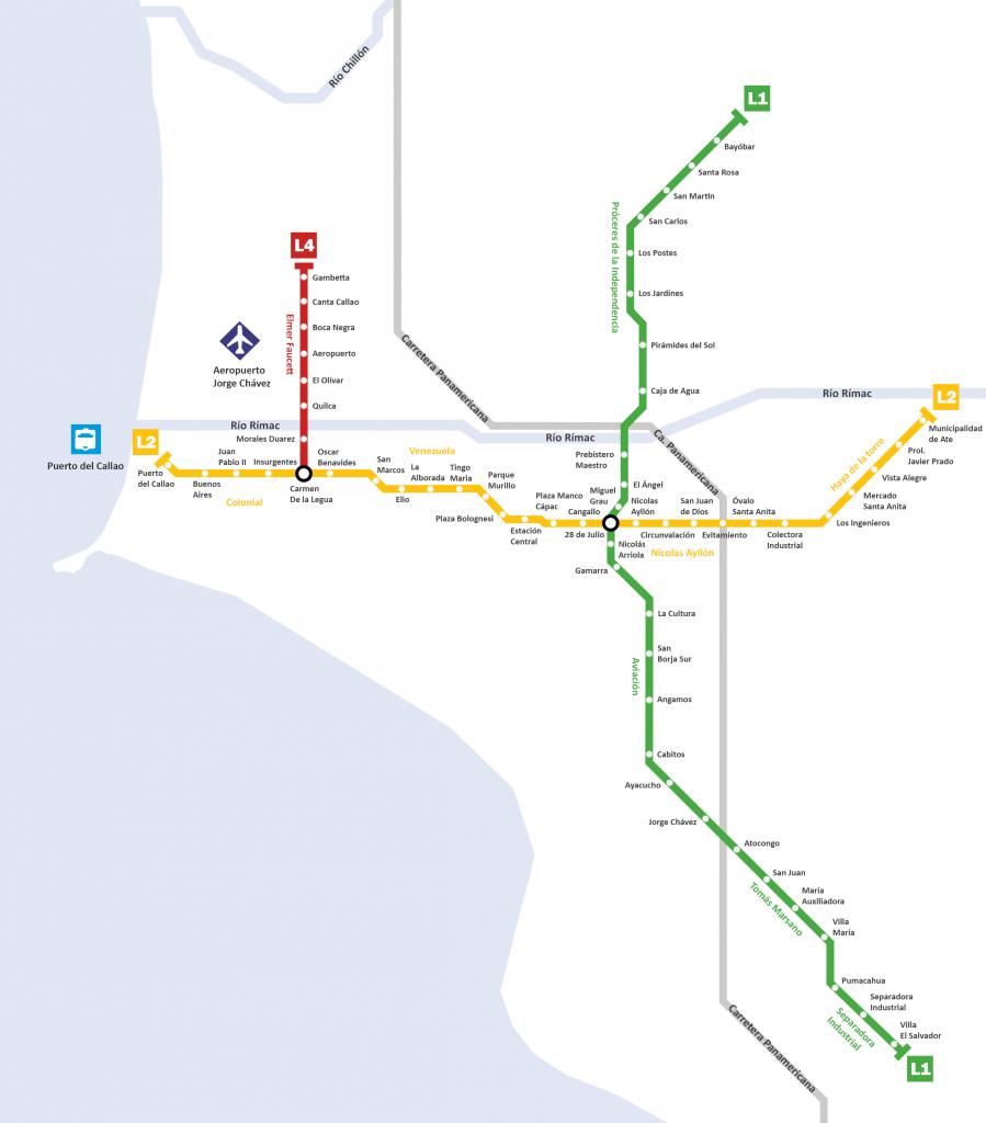 Lima Metro map