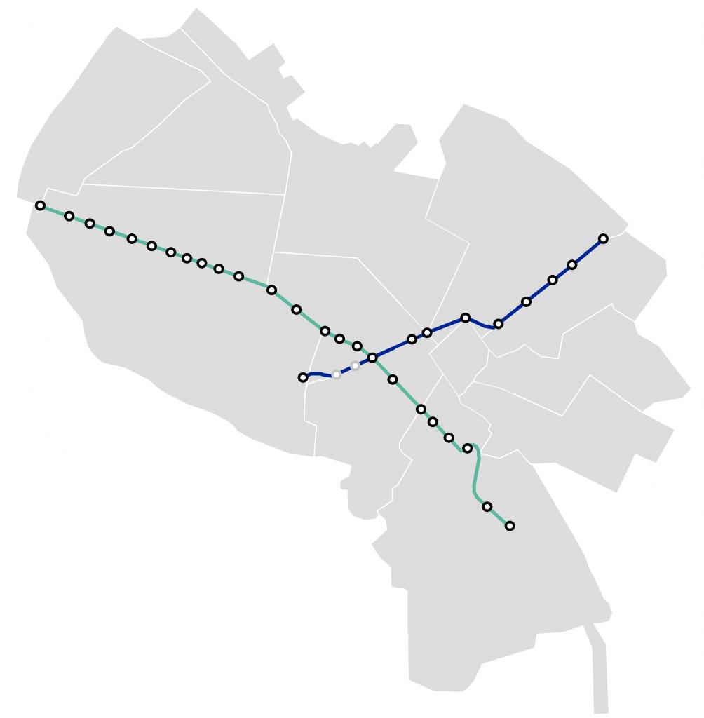 Mashhad Urban Railway map