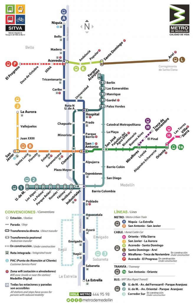 Medellín Metro map