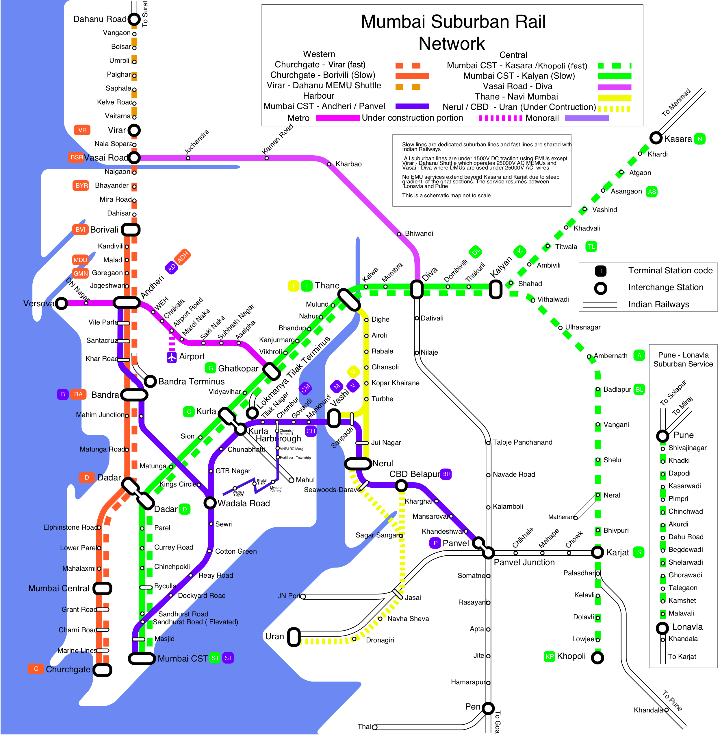 Mumbai Subway Map.India Subway And Metro Train Maps