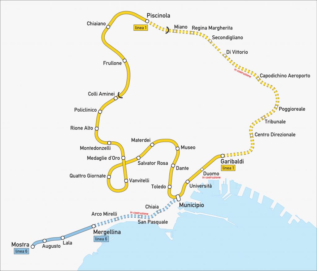 Naples Metro map