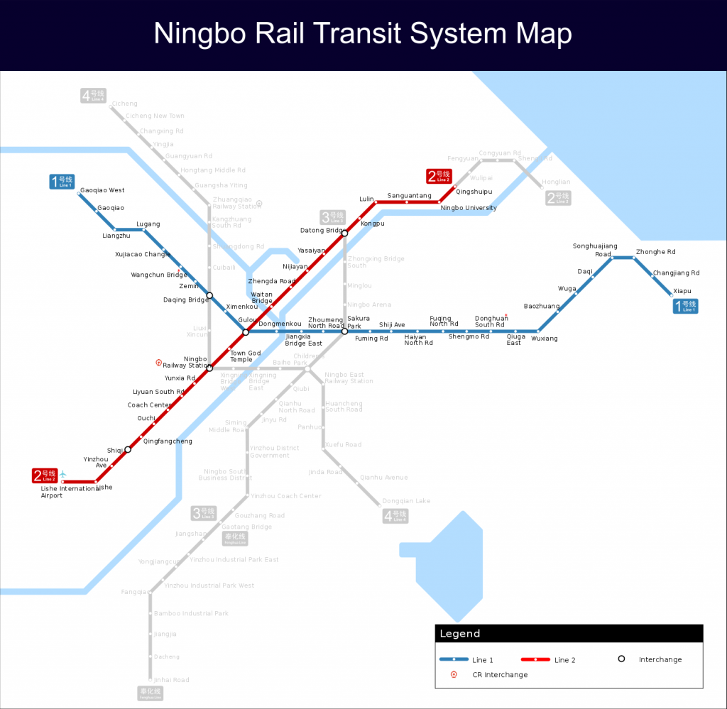 Ningbo Rail Transit map