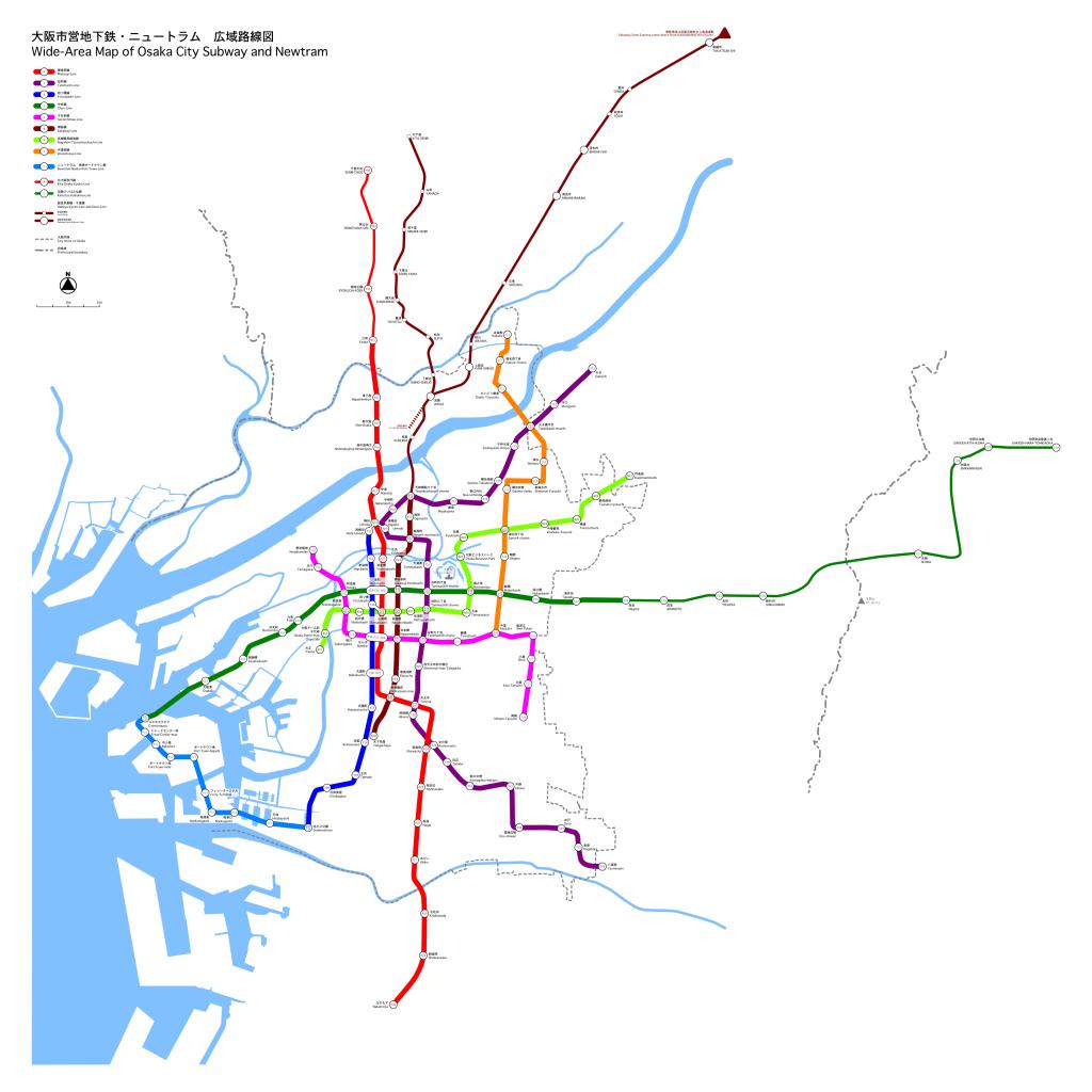 Osaka Metro map