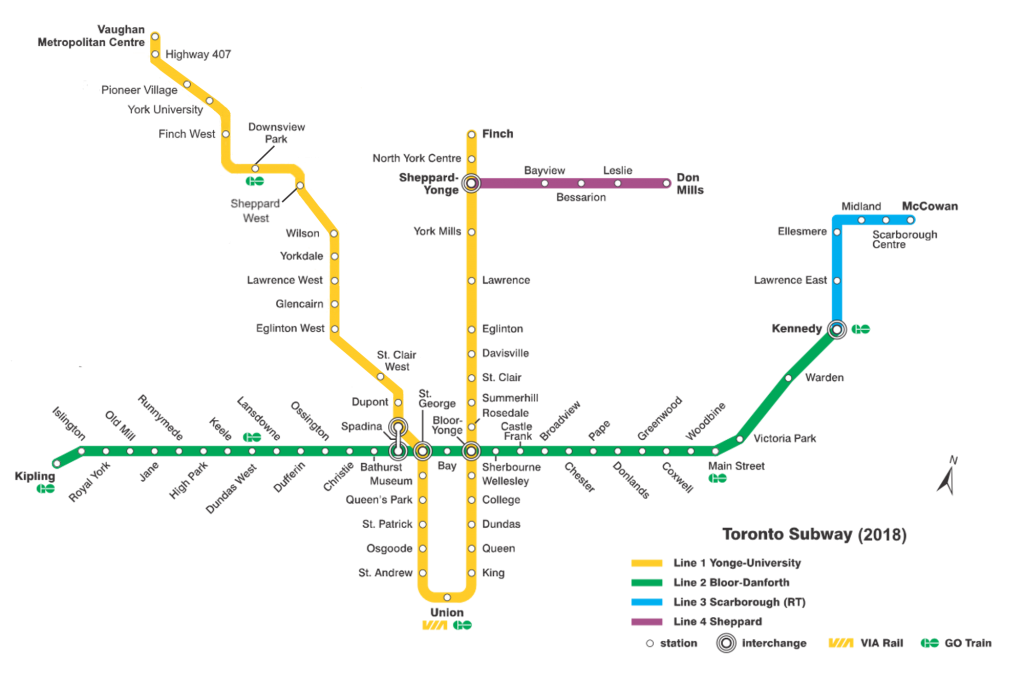 Toronto subway map