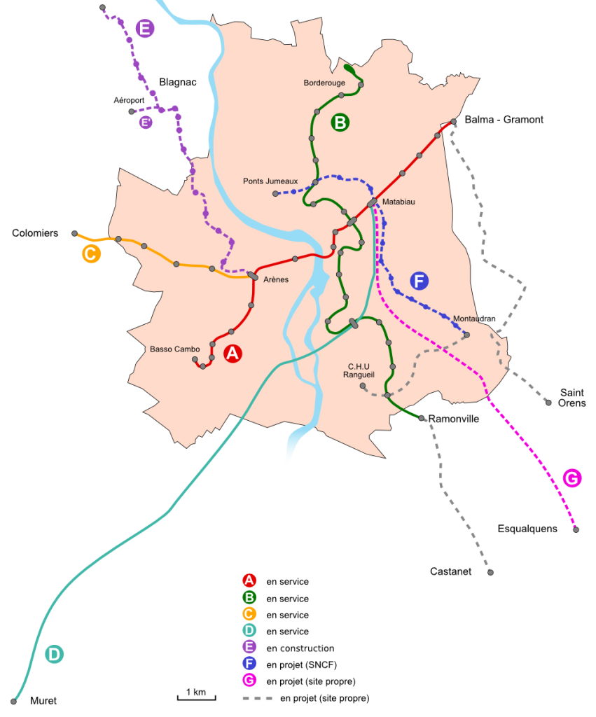 Toulouse Metro map