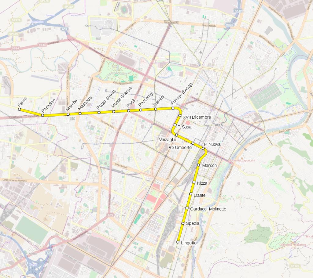 Turin Metro map