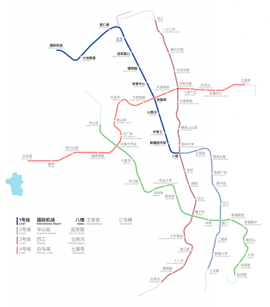Ürümqi Metro map
