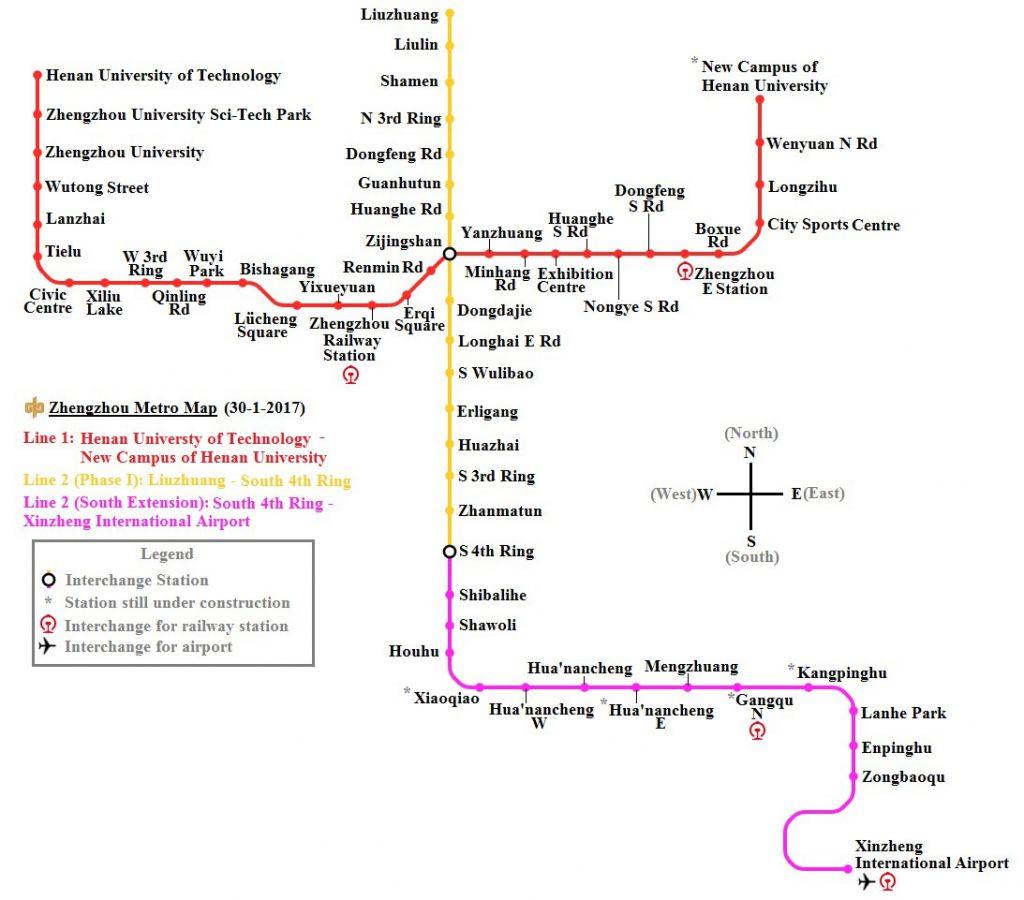Zhengzhou Metro map