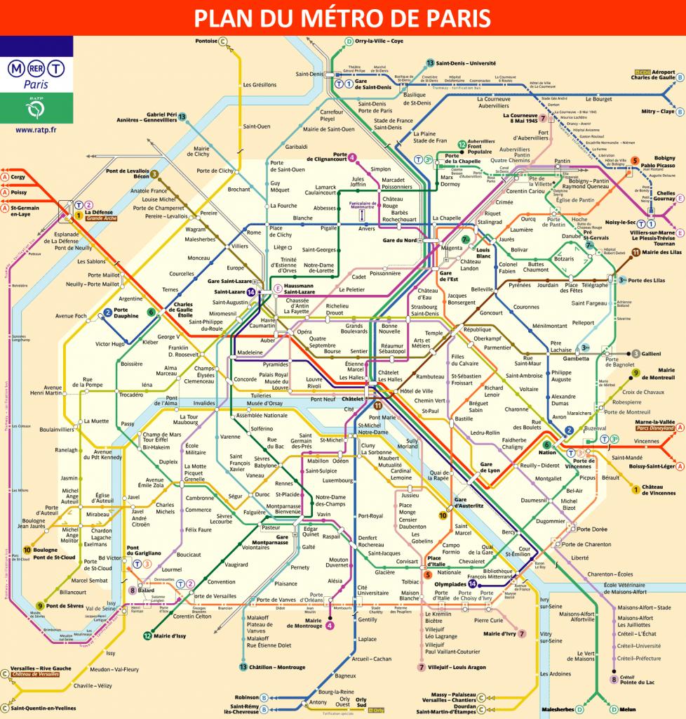 Alternative map of the paris metro