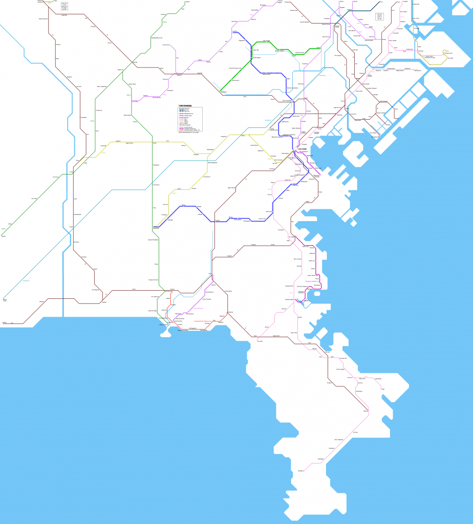 Yokohama Municipal Subway map