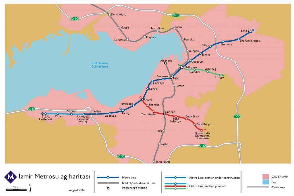 İzmir Metro map