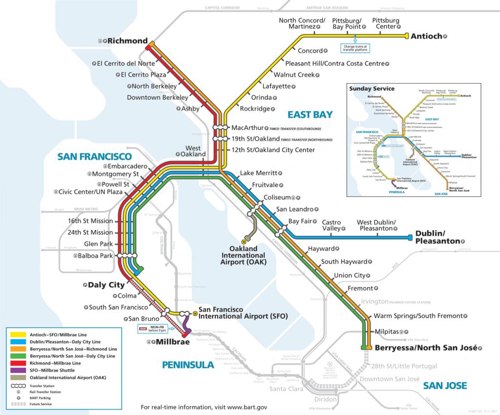 Bay Area Rapid Transit, San Francisco map