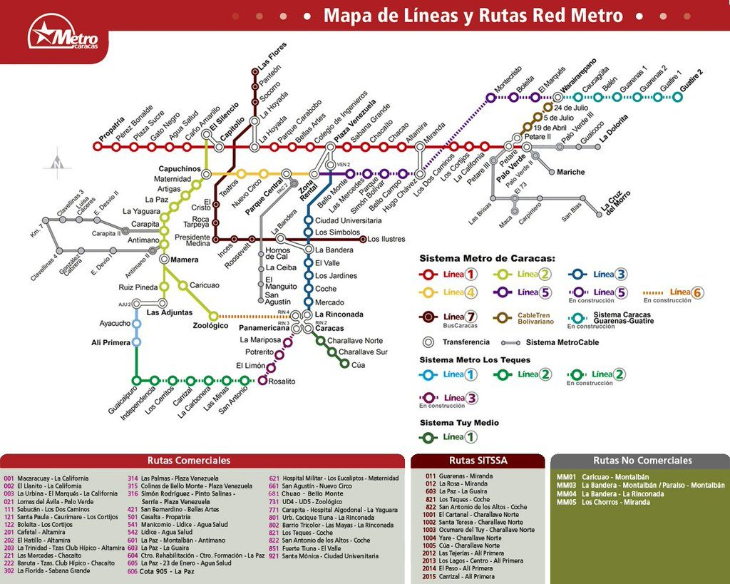 Caracas Metro map