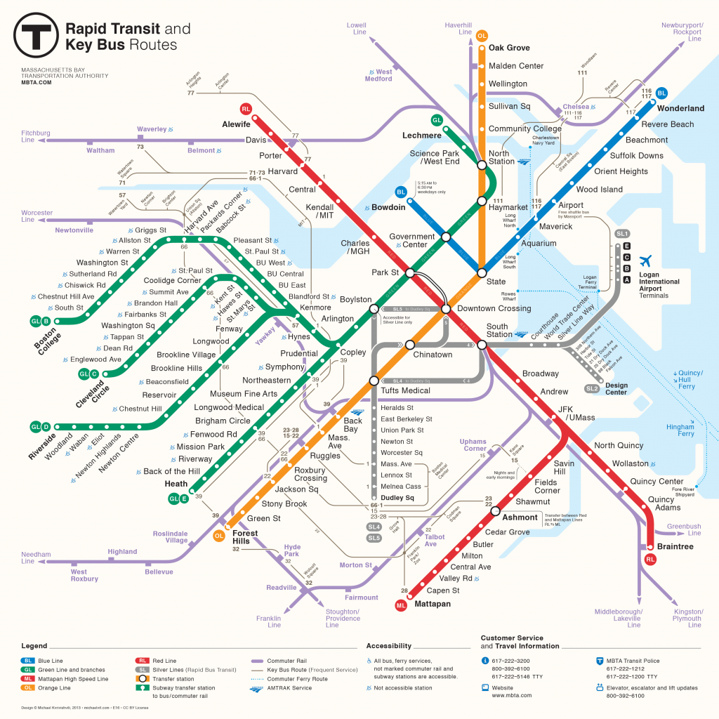 Massachusetts Bay Transportation Authority map