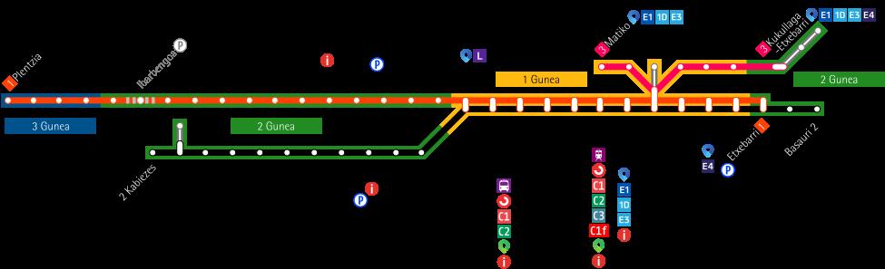 Metro Bilbao map