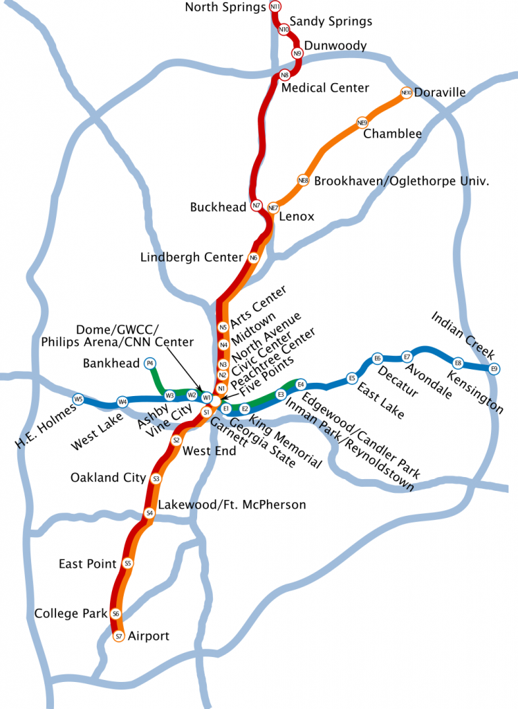 Metropolitan Atlanta Rapid Transit Authority map