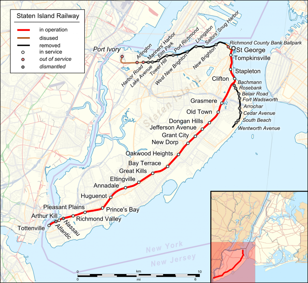 Staten Island Railway (New York) map