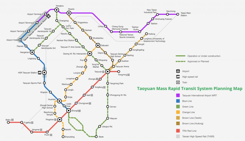 Taoyuan Metro map