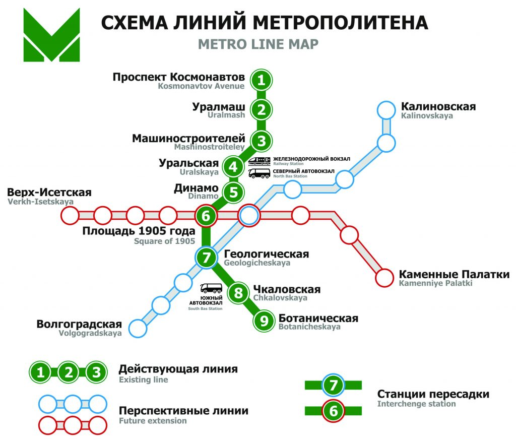 Yekaterinburg Metro map