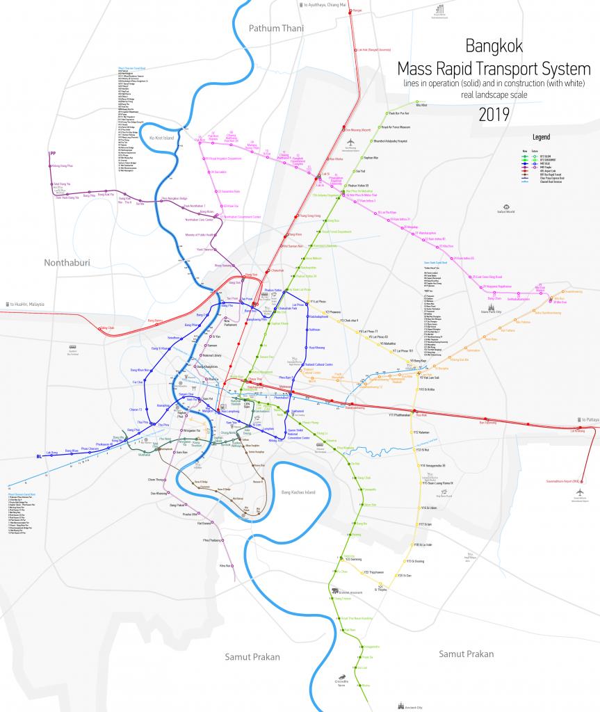 System map Bangkok Metro