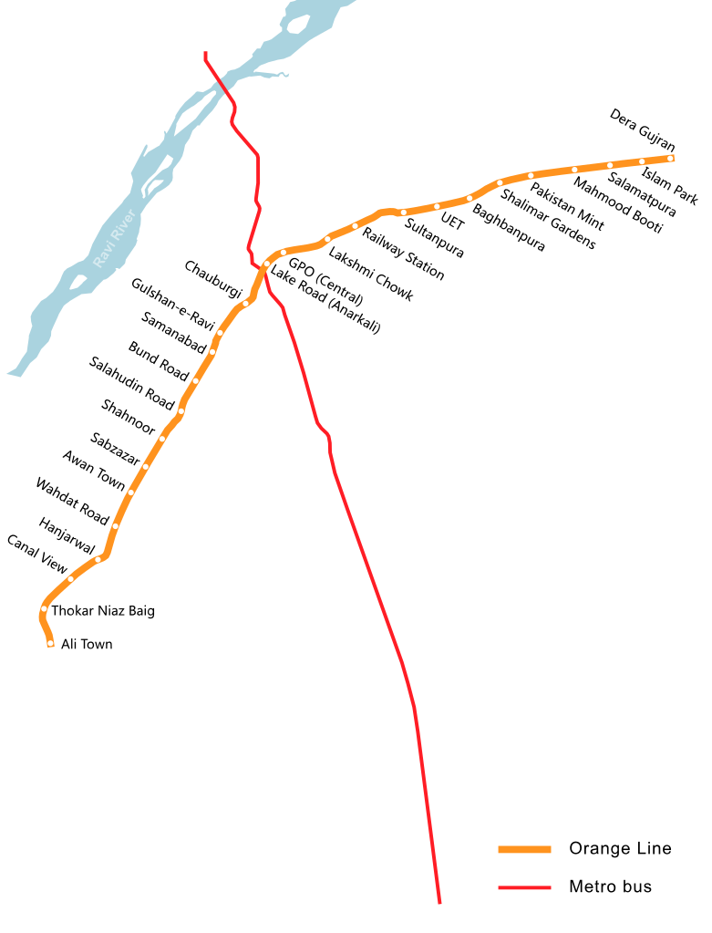 Lahore Metro map